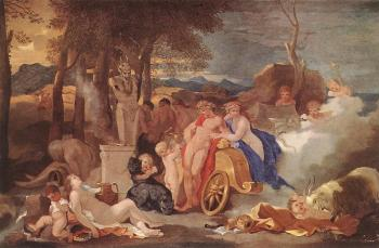 Sebastien Bourdon : Bacchus and Ceres with Nymphs and Satyrs